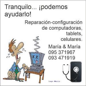 María y María: reparación de PCs y celulares